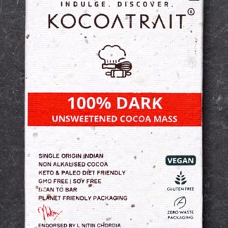 Kocoatrait Unsweetened 100% Dark Chocolate