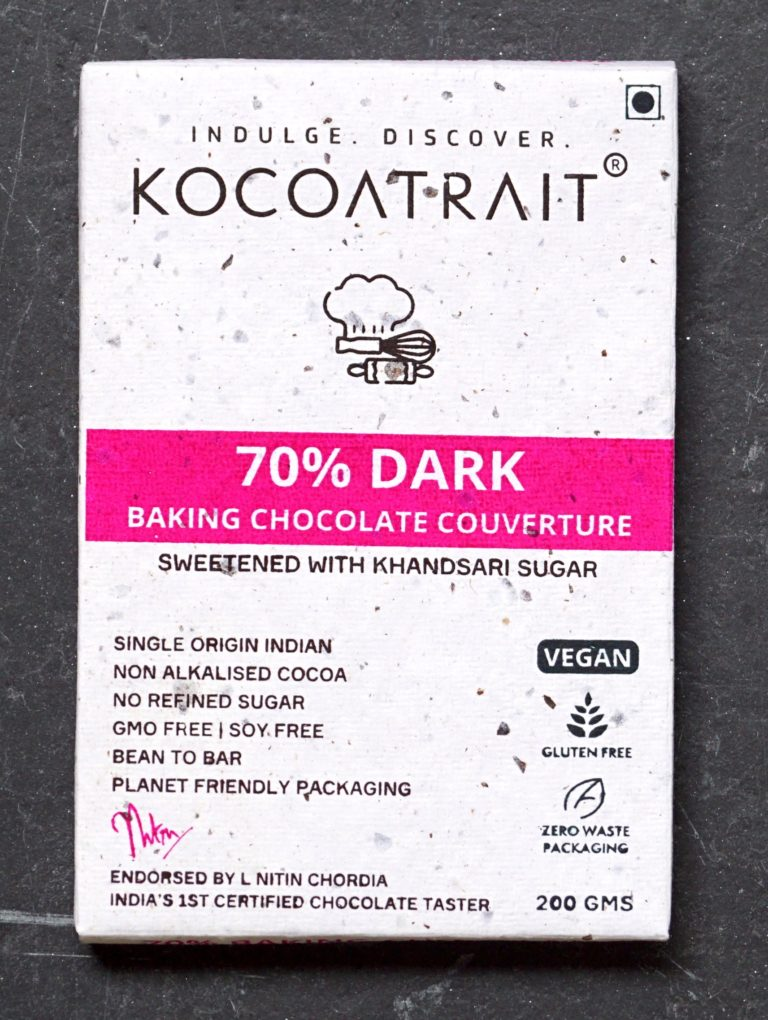 Kocoatrait 70% Dark Chocolate Couverture