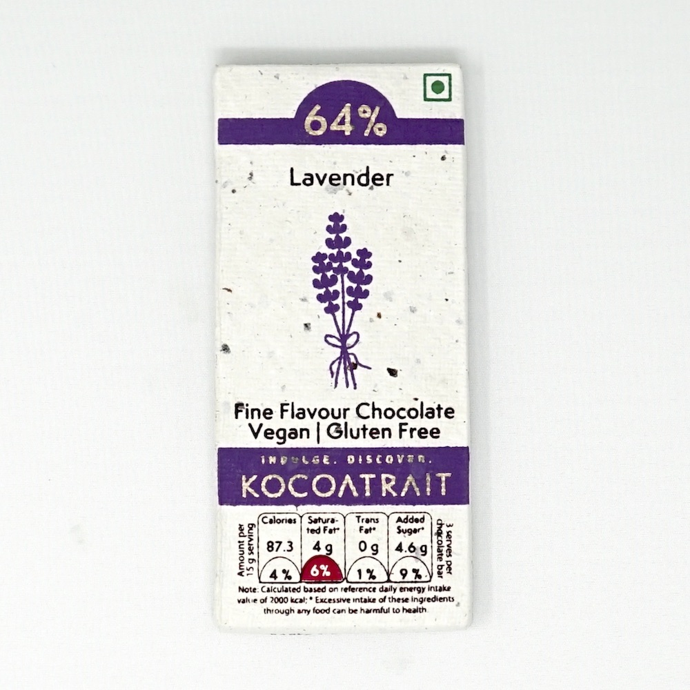 Kocoatrait Lavender Bean to Bar Chocolate