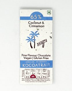 Kocoatrait Coconut & Cinnamon Bean to Bar Chocolate