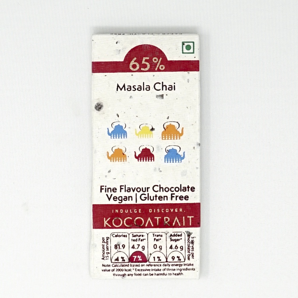 Kocoatrait Masala Chai Bean to Bar Chocolate