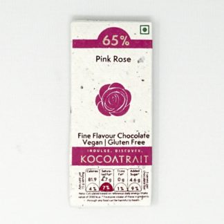 Kocoatrait Pink Rose Bean to Bar Chocolate