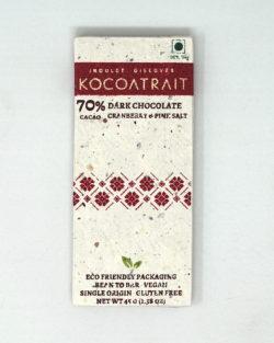 Kocoatrait 70% Cranberry & Pink Salt