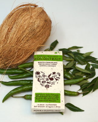 Kocoatrait Green Chilli Curry Leaves Coconut Chocolate