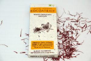 Kocoatrait White Chocolate Saffron Chocolate