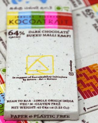 Kocoatrait 64% Sukku Malli Kaapi Dark Chocolate