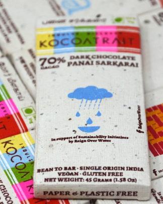 Kocoatrait 70% Panai Sarkarai (Palm Sugar) Dark Chocolate