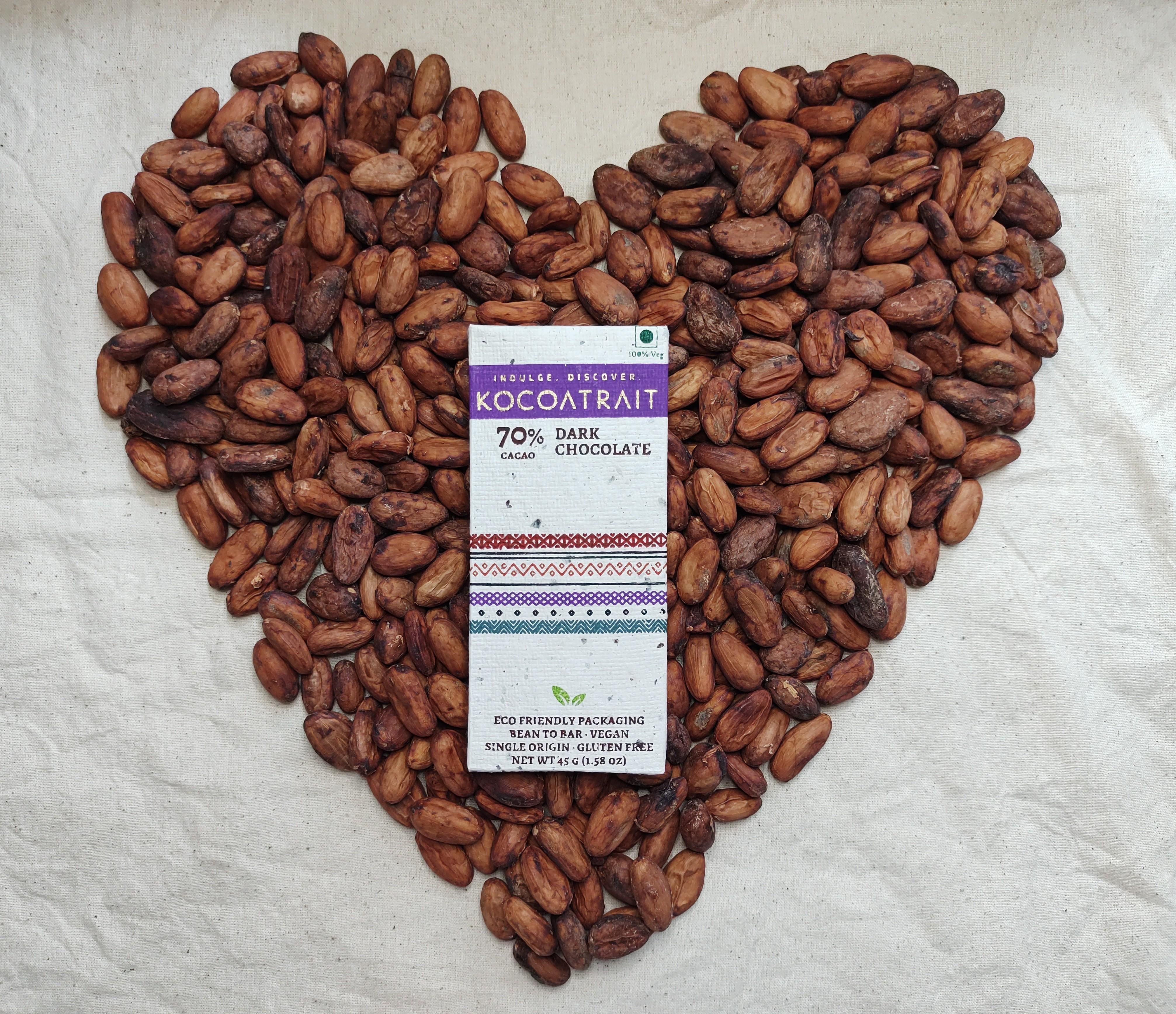 Kocoatrait Healthy Heart Dark Chocolate