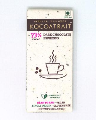 Kocoatrait 73% Espresso Dark Chocolate