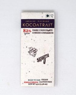 Kocoatrait 82% Dark Ginger Cinnamon